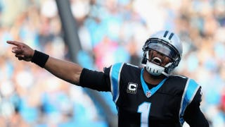 Cam Newton of the Carolina Panthers celebrates a third-quarter touchdown against the Atlanta Falcons during their Dec. 13, 2015, game in Charlotte, N.C.Streeter Lecka/Getty Images