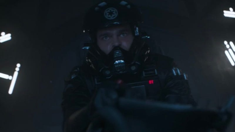 Han Solo, TIE pilot, courtesy of the Solo Blu-ray.