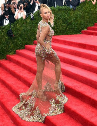 Beyoncé arrives at the Costume Institute Gala Benefit at the Metropolitan Museum of Art May 5, 2015, in New York. TIMOTHY A. CLARY/AFP/Getty Images