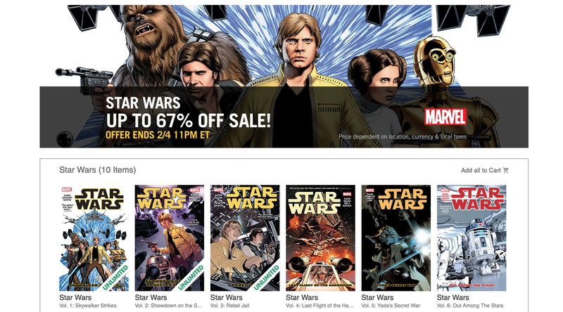 Star Wars Comics Sale | Comixology