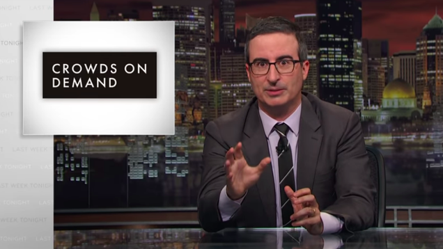 "From paid protestors to Dr. Evil, John Oliver spotlights corporate-funded ""astroturfing"""