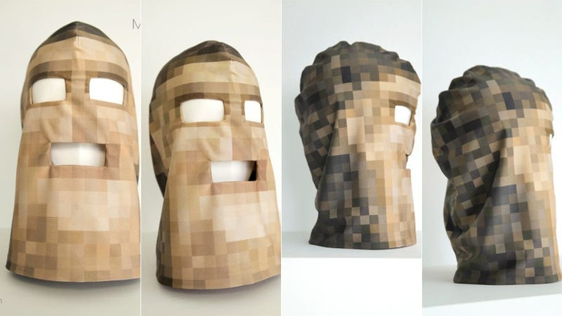 Illustration for article titled There Is Something So Scary About This Pixelated Hood Mask