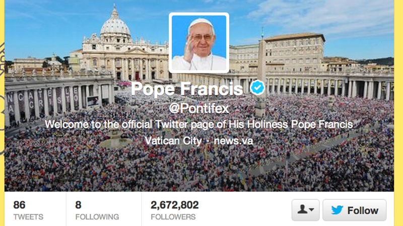 Illustration for article titled Follow the Pope on Twitter for Less Time in Purgatory