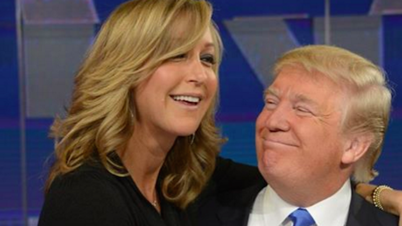 Illustration for article titled Hey, GMAHost Lara Spencer, Why Are You Sitting On Donald Trump's Lap?