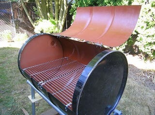 turn a 55 gallon drum into a barbecue. Black Bedroom Furniture Sets. Home Design Ideas