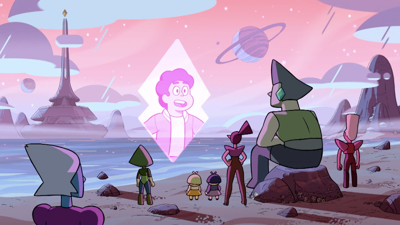 Some Gems watching Steven via a broadcast.