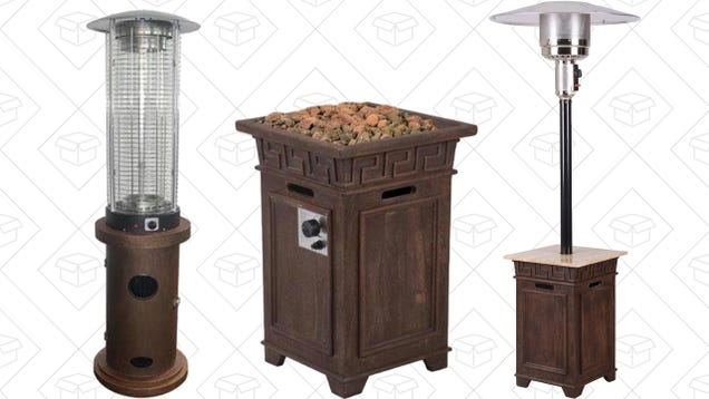 Keep Your Patio Warm and Toasty All Winter With Today's Gas Heater Gold Box