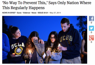 Illustration for article titled This Onion article on the UCSB shooting is spot on