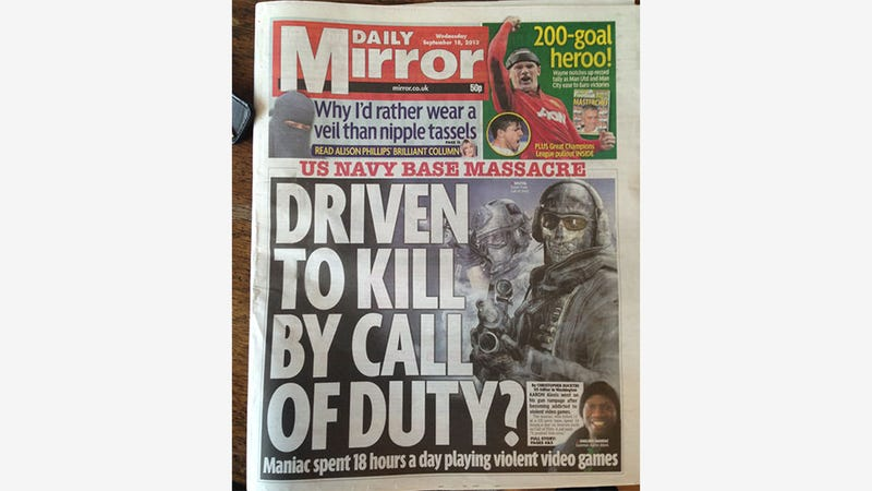 Illustration for article titled Driven To Kill By Call Of Duty? Question Mark?