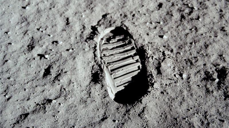 La huella que dejó Buzz Aldrin durante la misión Apolo 11Imagen: NASA