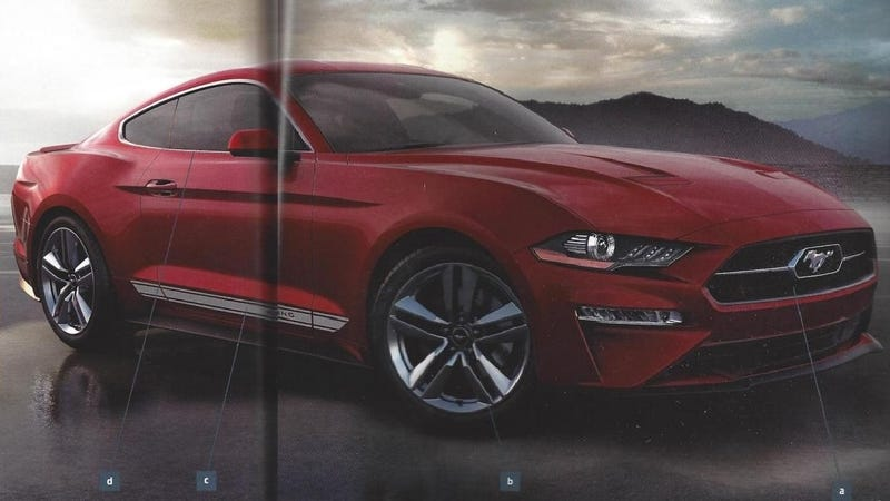 This Leaked 2018 Ford Mustang Order Guide Is Full Of Graphic Stripes