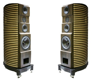 Illustration for article titled Mythos Audio Olon Speakers Are Stripey, Pricy, But We Likey