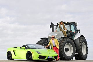 Illustration for article titled The Big Lamborghini Face-Off: Roadster vs. Tractor
