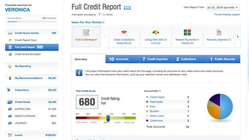 Illustration for article titled Credit Karma Offers Free Weekly Credit Reports and Monitoring