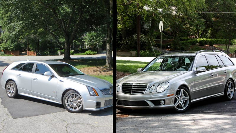 Illustration for article titled Finally, A Comparison: CTS-V Wagon vs. AMG Wagon