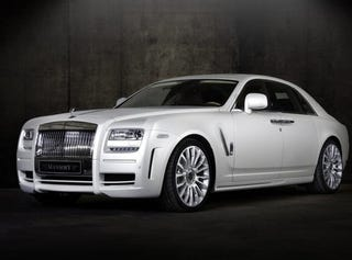 Illustration for article titled Mansory White Ghost Is Not Doing It Right