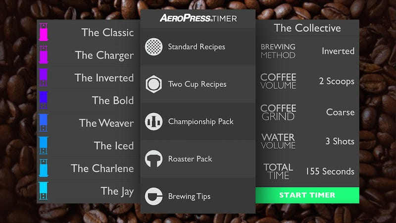 AeroPress Timer Teaches You Several Aeropress-Friendly Coffee Recipes