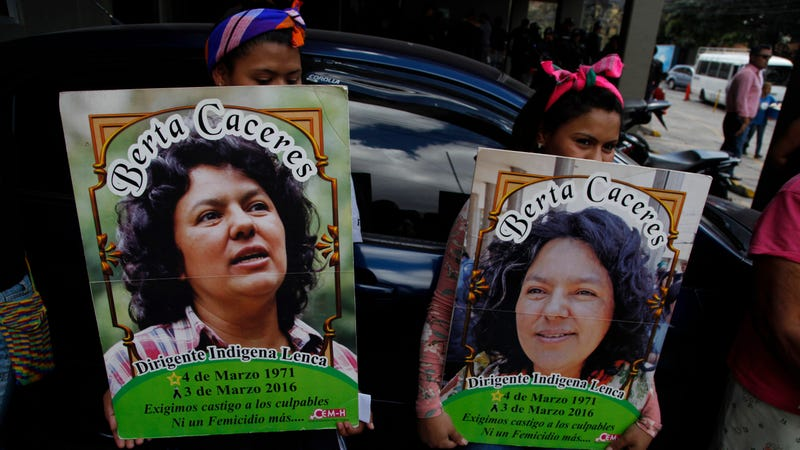Family, friends, and activists gather in Tegucigalpa, Honduras, to demand justice for Berta Cáceres.
