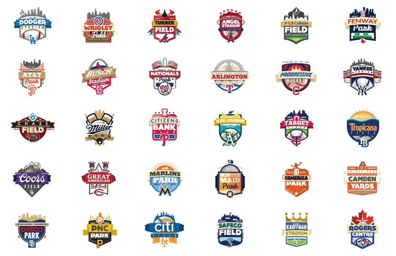 Illustration for article titled These Redesigned MLB Stadium Logos Are Better Than the Real Thing