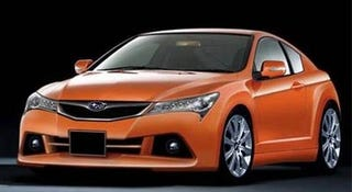 Illustration for article titled Subaru Coupe Gets Some Full-Frontal Speculation