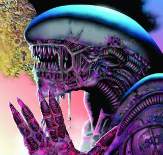 Illustration for article titled Drool Over Our Alien and Predator Centerfolds, and Win Free Books!
