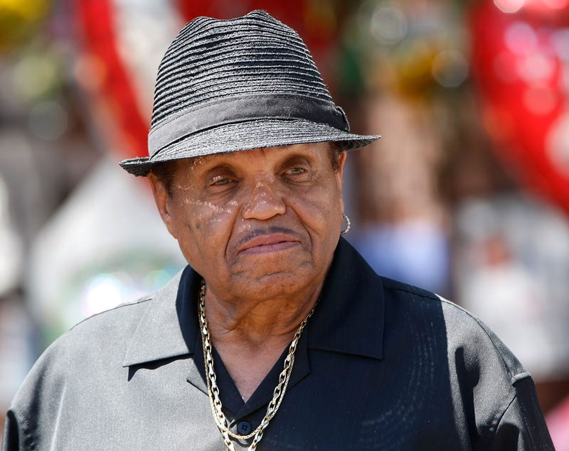 Joe Jackson speaks with the media in front of the Jackson compound on June 29, 2009, in Encino, Calif., after the June 25 death of iconic pop star Michael Jackson, then 50.