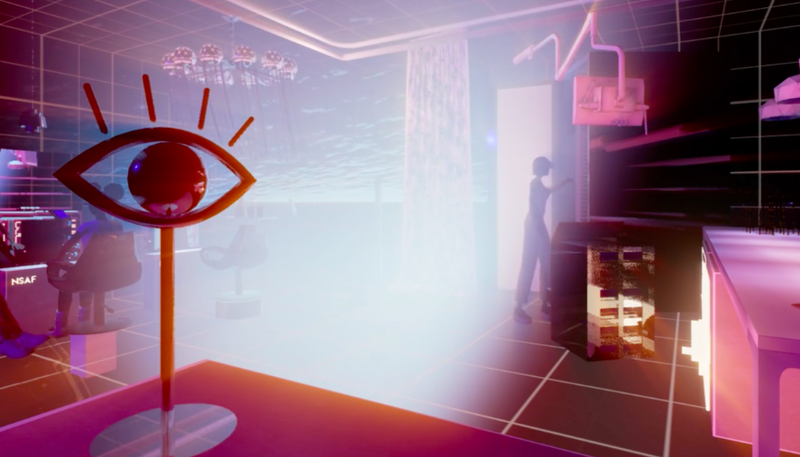 Screenshot from  NeuroScientific AfroFuturism, a virtual world that centers black women and their cultural mores