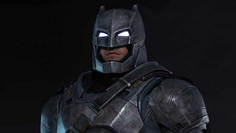 Illustration for article titled Now you can add a life-size Batfleck to your collection of terrifying movie toys