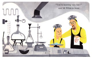 Illustration for article titled Breaking Bad would make an adorable, if demented, Little Golden Book