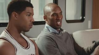 Michael B. Jordan and Kobe BryantYouTube Screenshot