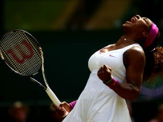 Serena Williams celebrates (Clive Brunskill/Getty Images)