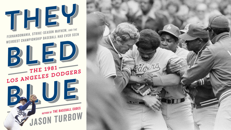 The Dodgers hold back Reggie Smith during a different near-brawl.