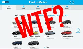 Illustration for article titled Volkswagen's Website Still Sucks