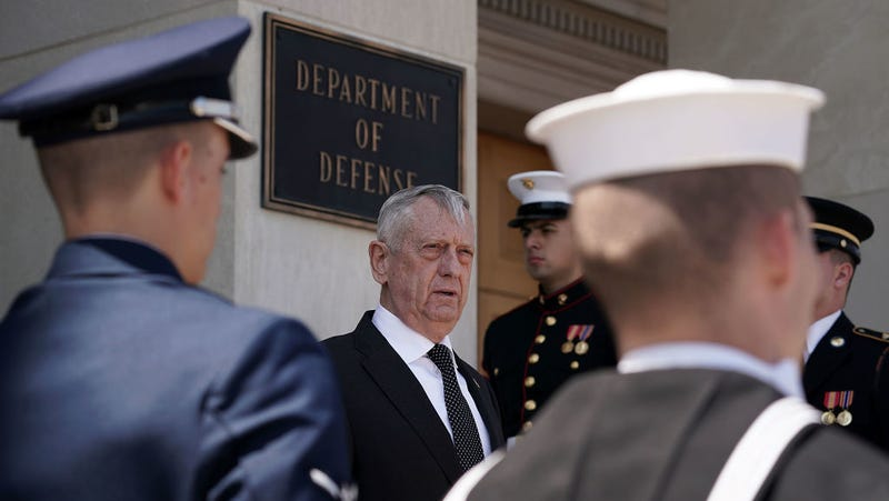 U.S. Defense Secretary James Mattis at the Pentagon April 18, 2018.