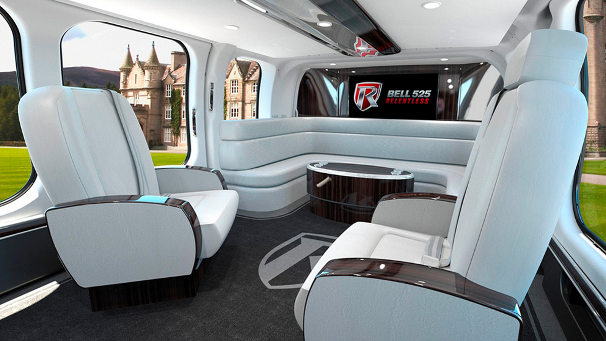 Luxury Helicopters For Sale >> The Bell 525 Helicopter Cabin Looks Like A Throne Room From Star Wars