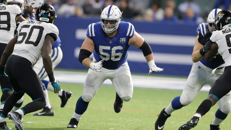Illustration for article titled Quenton Nelson Fined For Leading With His Helmet On Play Made In Edited Viral Video