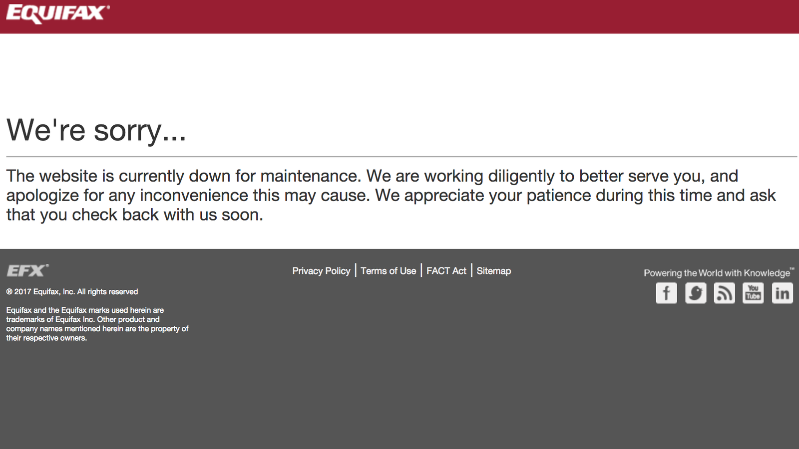 photo image Equifax Takes Webpage That Reportedly Pushed Adware Offline