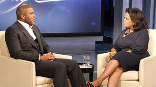 Tyler Perry chats with Oprah Winfrey.