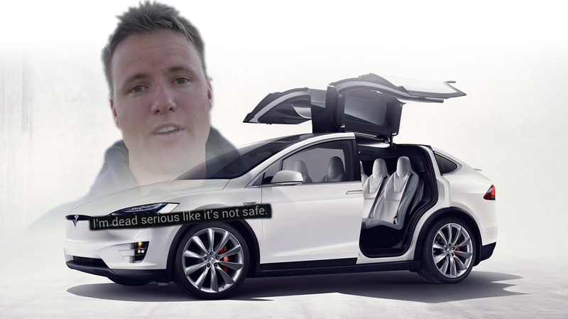 Illustration for article titled That Vlogger Who Got Rid Of His Tesla Because It Had Bald Tires Got A Tesla Model X