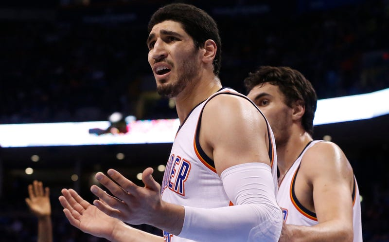 Illustration for article titled Enes Kanter Sounds Very Happy About Having Left Utah