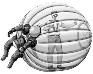 Illustration for article titled A Failed Prototype: The Hamster Ball Spacesuit