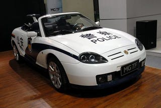 Illustration for article titled MG TF Police Convertible