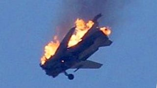 Illustration for article titled A Syrian Attack Jet Went Down In Flames Near Two Contentious Borders