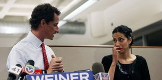 Anthony Weiner and wife, Huma Abedin (Jason Moore/Getty Images)