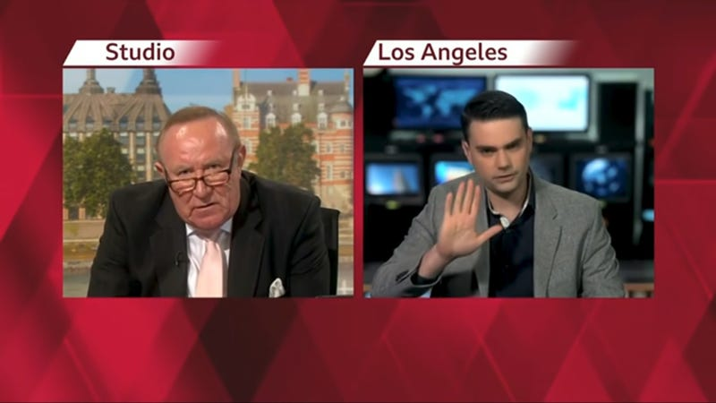 Start your weekend right with this wreck of a Ben Shapiro interview