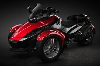 Illustration for article titled 2008 Can-Am Spyder Now Available in Red