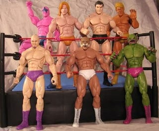 Illustration for article titled A Winner is These Custom NES Pro Wrestling Figures