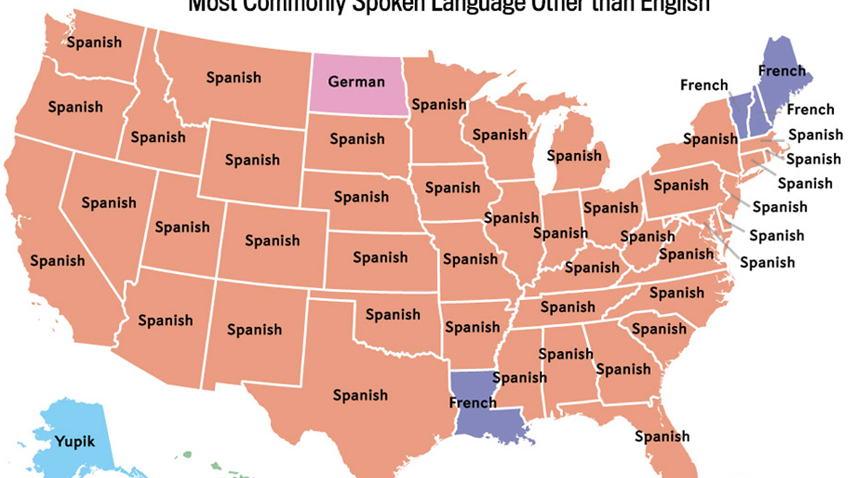 Spain Map Of Languages.The Most Common Languages Spoken In The U S After English And Spanish