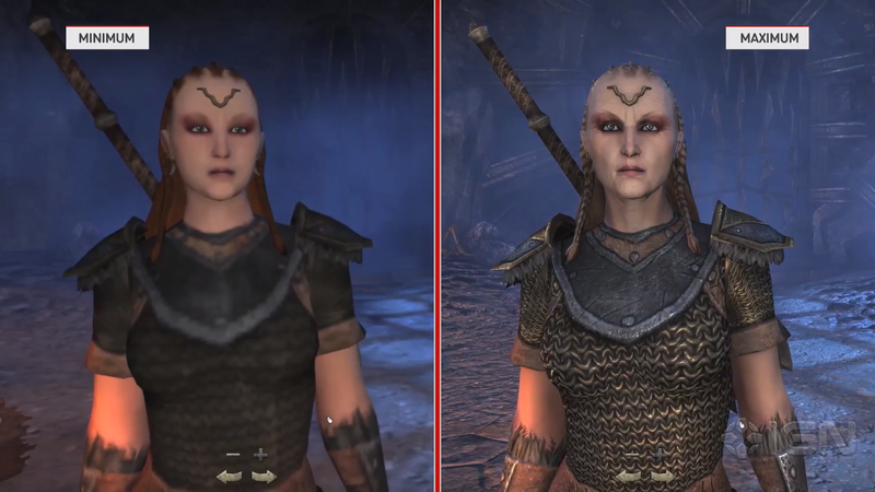 Illustration for article titled Wow, Elder Scrolls Online Graphics Comparison is Like Night And Day