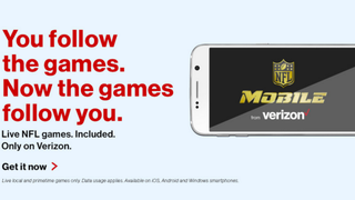 Illustration for article titled Watch NFL Games for Free with Your Verizon Wireless Account
